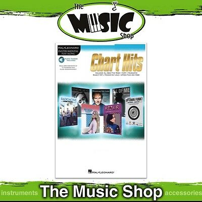 New Hal Leonard Instrumental Play Along: Chart Hits for Trumpet Music Book & OLA