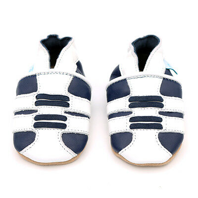 Dotty Fish Soft Leather Baby & Toddler Shoe - Navy Trainer - 0-6 Month- 3-4 Year