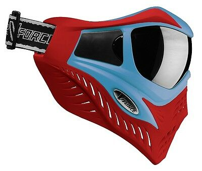 New VForce V-Force Grill Thermal SE Special Edition Goggles Mask - Blue on Red