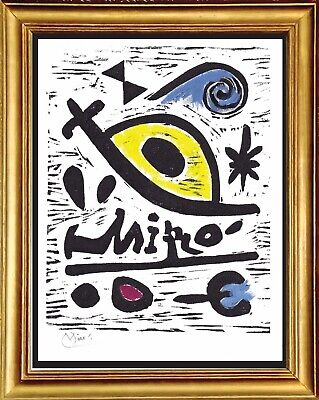 """Joan Miro Original Limited Edition Print """"Composition 26"""" Hand Signed with COA"""