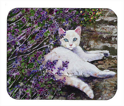 Item#1750 The Cat and Purple Flowers Art Mouse Pad
