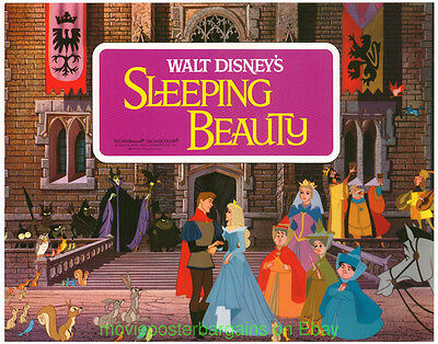 SLEEPING BEAUTY Lobby Card Size 11x14 Movie Poster COMPLETE Set of Eight R1970