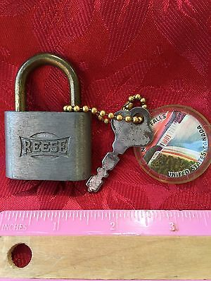 Vintage Reese Padlock With Key Made In USA Free Shipping