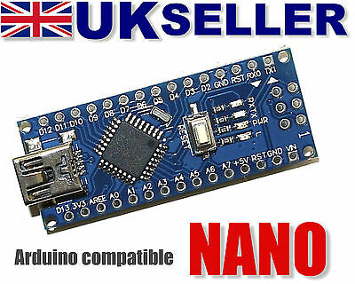 Arduino Nano v3.0 compatible ATMEGA328 (CH340 USB-Serial) NEW TESTED UK Stock