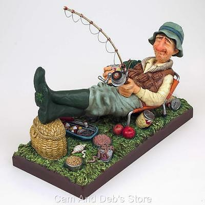 The Fisherman Comic Art Figurine Sculpture By Guillermo Forchino