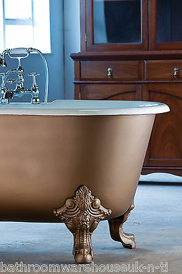 Roll Top Double Ended Cast Iron Bath Gargoyle Feet NO TH
