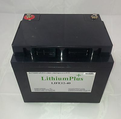 BATTERIE LITHIUM 12V  LIFEPO4 12v 42,9Ah 197x165x170mm  EXEMPLE = caddy golf