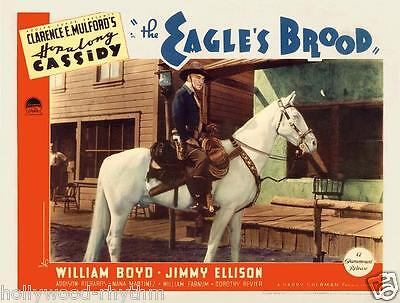 HOPALONG CASSIDY 2nd In Series EAGLE'S BROOD Stunning 11x14 LC Print 1935