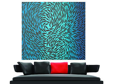 Print On Canvas aboriginal art painting jane crawford Dreaming Fish 100cm blue