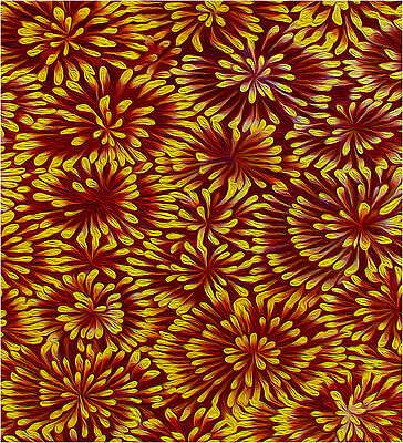 100cm BIG PRINT ON CANVAS aboriginal art painting jane crawford bush flowers