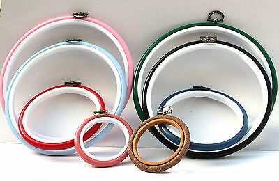 One round flexi embroidery hoop - choice of colours and sizes
