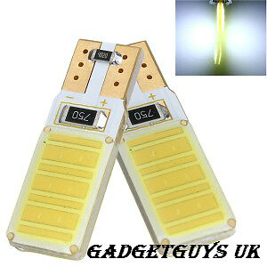 Car Sidelight Bulbs Canbus Error Free T10 501 W5W 12 Smd Cob Led Xenon Hid White