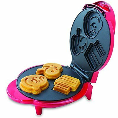 NEW Cartoon Peanuts Snoopy And Charlie Brown Waffle Maker, Red - Great for Kids