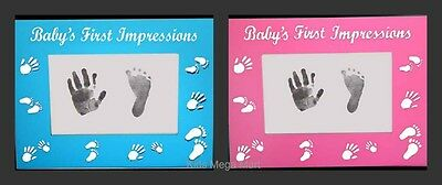 Baby Boy Girl First 1st Impressions Blue or Pink Photo picture frame NEW