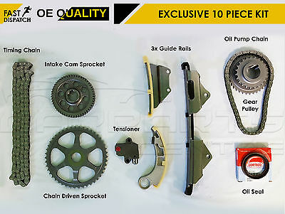 For Honda Accord Civic 2.2 Ctdi Engine Timing Cam Tensioner Chain Sprocket Kit