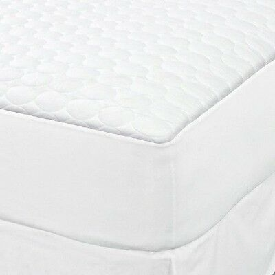 1 TWIN XL WHITE FITTED QUILTED MATTRESS PAD T180 HOTEL 39x80x12 DEEP POCKET
