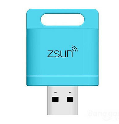 2016 Zsun Wireless Wifi Card Reader Extended Phone Memory for Iphone IOS/Android