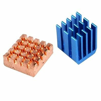 Hot! Copper Aluminium Cooling Heatsink Kit for Raspberry Pi 3 Raspberry Pi 2 B+