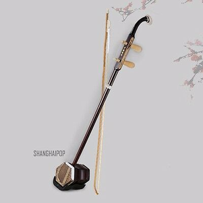 Retro Chinese Erhu Fiddle Violin 2 Strings Musical Instrument Gift Oriental New