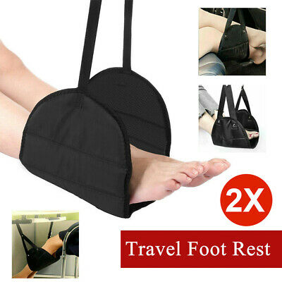 2X Travel Foot Rest Footrest Leg Pillow Flight Memory Foam Cushion Hammock