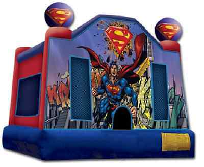 Jumping Castle Superman  Hire Only Melbourne Children Party Entertainment Hire
