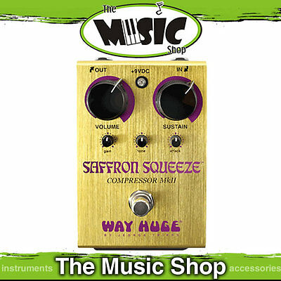 New Way Huge Electronics WHE103 Saffron Squeeze Compressor Pedal