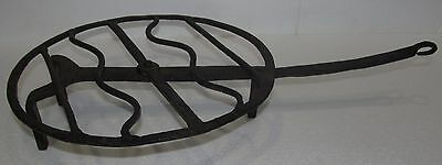 18Th Century Wrought Iron Rotating Roaster With Rat Tailed Handle
