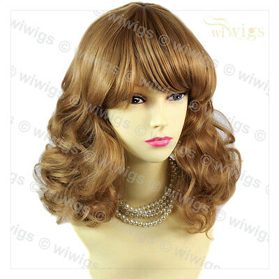 Wiwigs Lovely Classic Blonde & Brown Medium Curly Ladies Wig