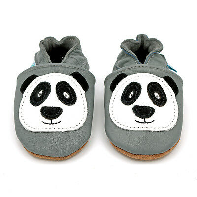 Dotty Fish Soft Leather Baby & Toddler Shoe - Panda - 0-6 Months - 4-5 Years