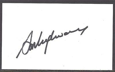 A Plain White Card Signed by Steve Heighway, Liverpool, Republic of Ireland