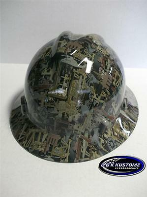 NEW Custom MSA V GARD Full Brim Hard Hat OILFIELD Camo  Pattern