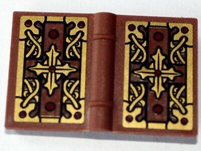 LEGO BOOK ~ Minifigure Utensil 2x3 Accessory Black Pearl Gold Red Brown NEW