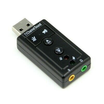 External Virtual USB 3D 7.1 Channels Stereo Sound Card Audio Adaptor Converter