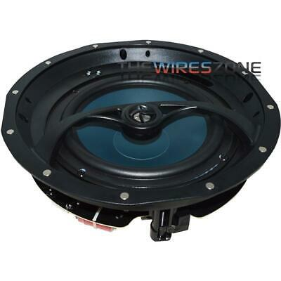 """The Wires Zone K201 2-Way 8 Ohms 8"""" In-Ceiling Speaker w/ Magnetic Grille (pair)"""
