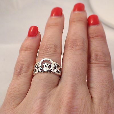 Claddagh Ring - 925 Sterling Silver - Celtic Jewelry Friendship Gaelic Ring NEW