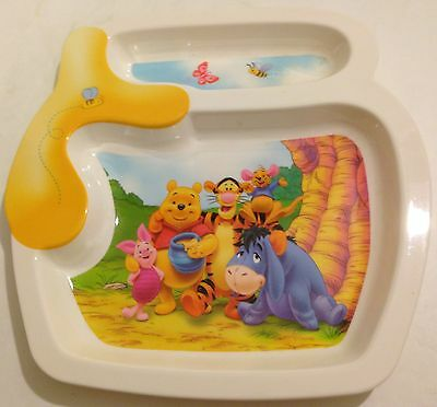 2004 The First Years Inc Plastic Winnie The Pooh & Friends Divided Plate