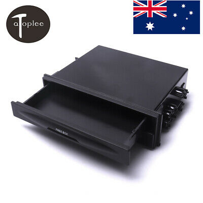 From AU Universal Car truck Double Din Radio Pocket Drink Cup Holder Storage Box