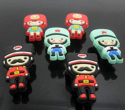 6pcs  Cartoon Shoe lace Charms Children Kids shoelace charms bracelet charms
