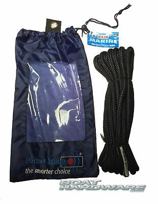 Dock line Mooring Rope 8mmx6m Ultra Strong Double Braid Boat Yacht Spliced End