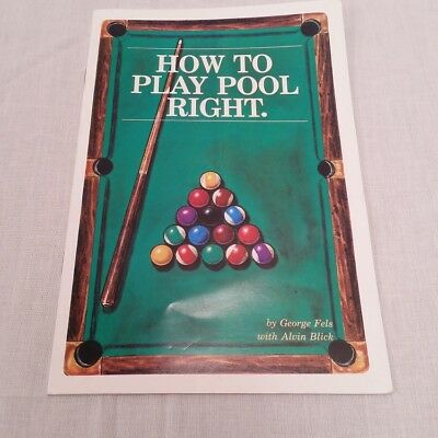 How To Play Pool Right Instruction Booklet