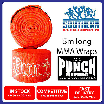 Boxing MMA Muay Thai PUNCH EQUIPMENT Hand Bandages 5m Stretch Wraps 990PHW - RED