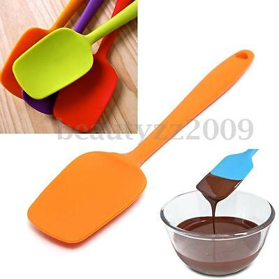 Hot Silicone Brush Sugarcraft Spatula Mixing Batter Butter Scraper Baking Tool