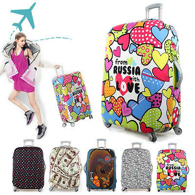 """Trolley Travel Luggage Protector Elastic Suitcase Cover Bag Dust-Proof 20-28"""""""