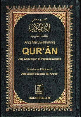 FILIPINO: The Noble Quran Arabic Text with Filipino Translation -HB