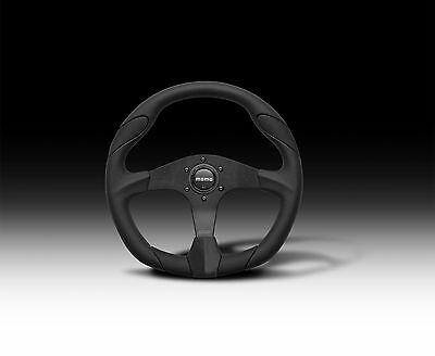 Momo Quark 350Mm All Black / Leather Steering Wheel