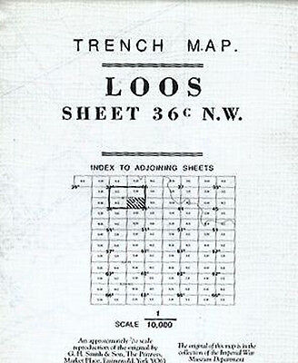 Trench Map Of Loos Sheet 36 N.w. 3 & Part Of 1 Provisional Edition