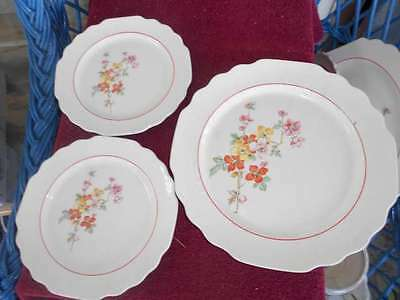 W.S. George 55447 1R Plates, One Lunch Plate, 2 Bread & Butter Plates Lido White