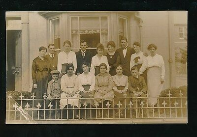 Wales Breconshire LLANWRTYD WELLS Irfon Crescent Group Mack c1920/30s?RP PPC