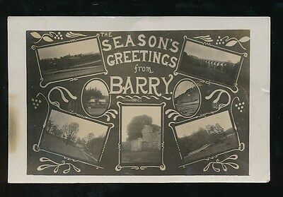 Wales Glamorgan Glam BARRY Greetings From M/view pre1919 RP PPC