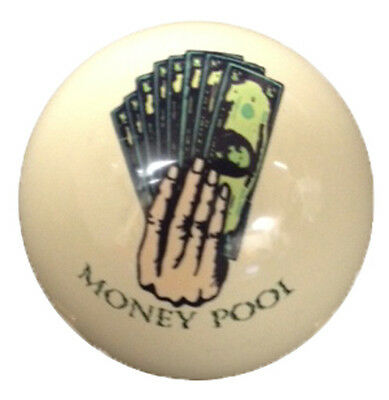 Pool/Billiards Money Pool Custom Cue Ball New! Great Gift and Unique!